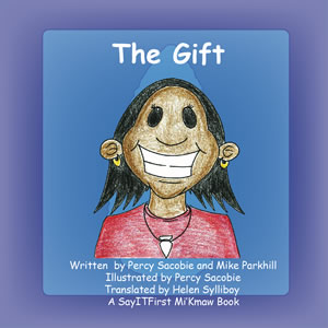 The Gift Book Cover in Mi'Kmaw