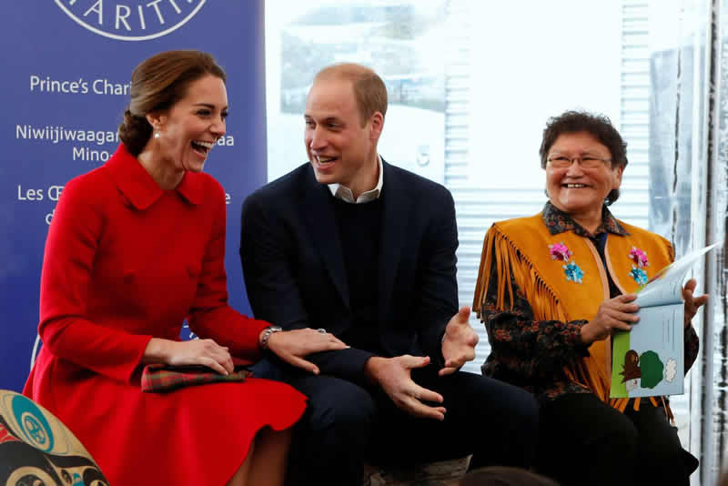 Kate & William during a reading of Hide & Peek