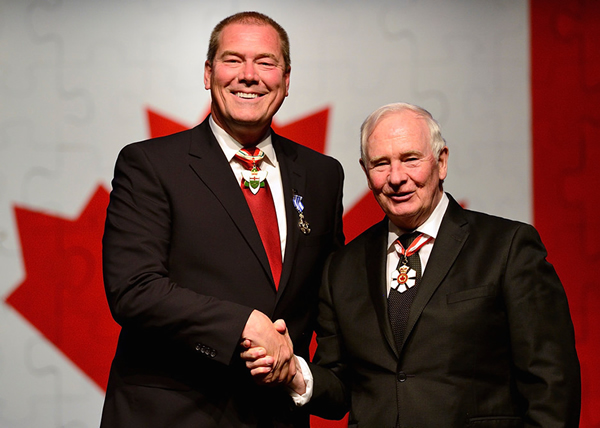 Mike Parkhill & the Right Honourable David Johnston, Governor General of Canada